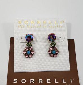sorrelli  flower drop earrings ( lollipop)